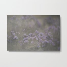 """and through the fog she found the flowers—and she was set free…"" Metal Print"