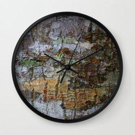 Close-up of bark texture Wall Clock