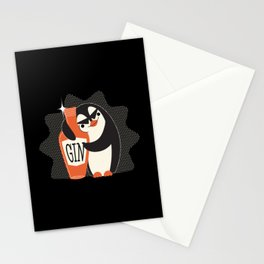 Cute Penguin For Gin Lovers Women Stationery Cards