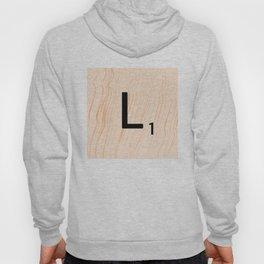 Scrabble Letter L - Large Scrabble Tiles Hoody