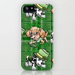 Lucky pups iPhone Case