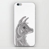 llama iPhone & iPod Skins featuring Llama by Olya Goloveshkina
