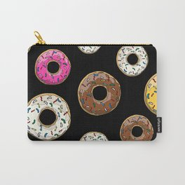 Funfetti Donuts - Black Carry-All Pouch