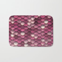Pink mermaid glitter sparkling scales -  Mermaid Scales Bath Mat