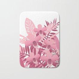 Bouquet of pink tropical plants Bath Mat