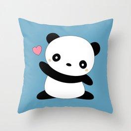 Kawaii Cute Panda Bear Throw Pillow