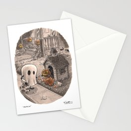Pupkin and Ghost Stationery Cards