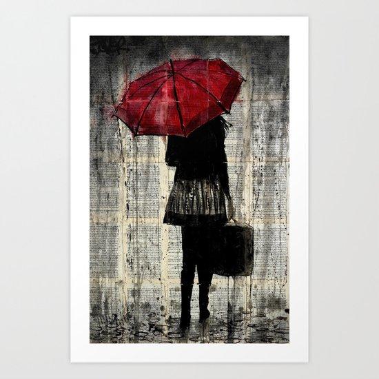 FEELS LIKE RAIN Art Print