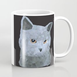Low poly british cat Coffee Mug