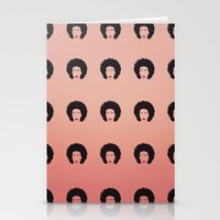 afro Stationery Cards featuring Afro by Amanda Corbett