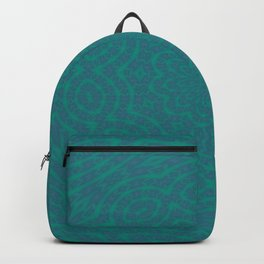 Aurora Turquoise and Blue Delicate Lace Kaleidoscope Backpack