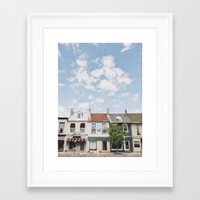 caleb troy Framed Art Prints featuring Troy, Ohio by Andrea Bell of Tether & Fly