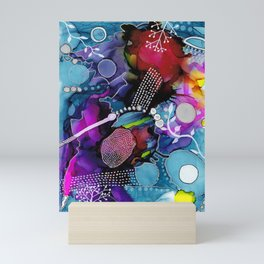 Dark Reef of Currant and Indigo Mini Art Print