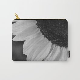 Black and White Sunflower Photography Print Carry-All Pouch