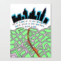 paper towns Canvas Prints featuring Paper Towns by green.lime
