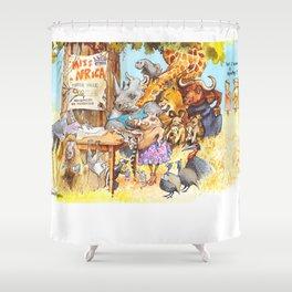 miss africa Shower Curtain