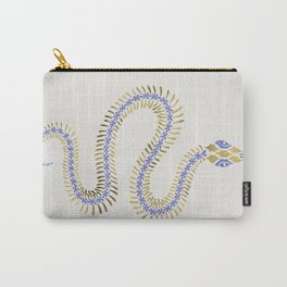 Snake Skeleton – Periwinkle & Gold Carry-All Pouch