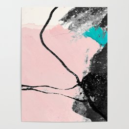 Modern abstract art, contemporary design work Poster