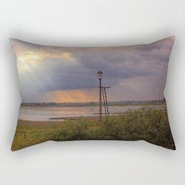 Sunset over the Norfolk Broads, UK Rectangular Pillow