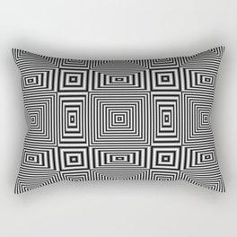 Flickering geometric optical illusion Rectangular Pillow