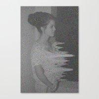 glitch Canvas Prints featuring Glitch by Amélie Haeck