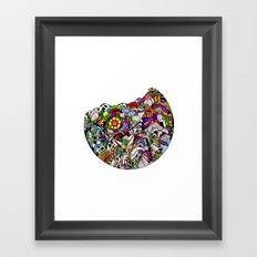 Verás el mundo según tus ojos Framed Art Print