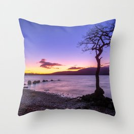 Scottish winter @ blue hour Throw Pillow