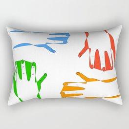 colors on my hand Rectangular Pillow