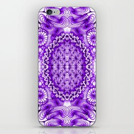 Purple Zentangle Tile Doodle Design iPhone Skin