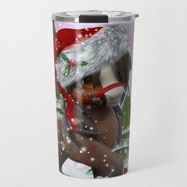 Santa Pony Travel Mug