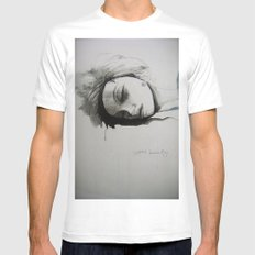 sleeping beauty White Mens Fitted Tee MEDIUM