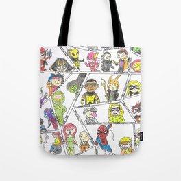 Heros and Villians Tote Bag