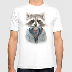 Raccoon Mens Fitted Tee White X-LARGE