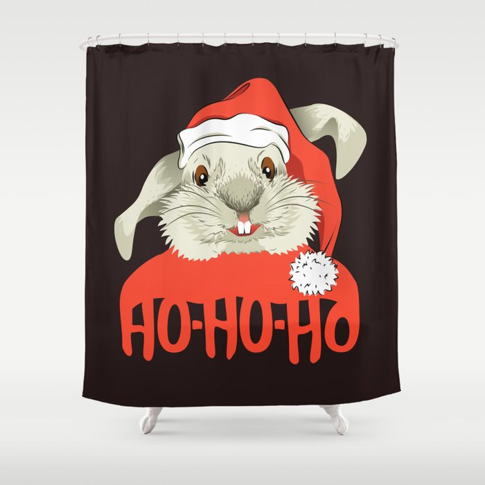 The Christmas Rabbit Shower Curtain