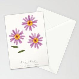Purple Aster Modern Botanical Stationery Cards