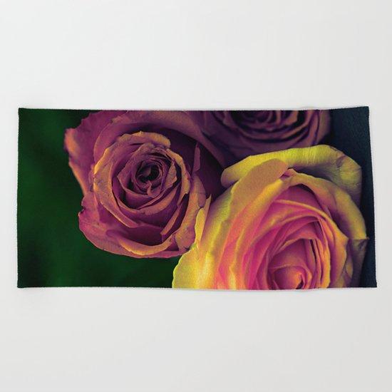 Vintage roses(10) Beach Towel