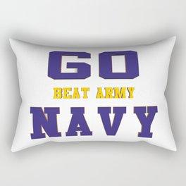 GO NAVY- Beat Army Rectangular Pillow