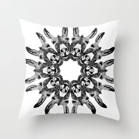 donkey Throw Pillows featuring Donkey Kaleidoscope  by Yann Thompson