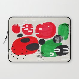 Mid Century Modern Abstract Vintage Colorful Shapes Patterns Watermelon Bubbles Laptop Sleeve