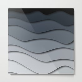 Abstract wavy design Metal Print