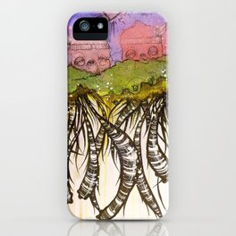 Another day on the floating island iPhone Case