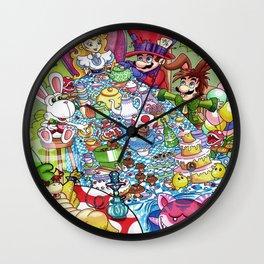 Mario Tea Party Wall Clock