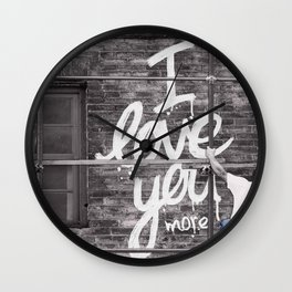 I Love You More - Urban Romance Wall Clock