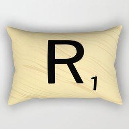 Scrabble R - Large Scrabble Tile Letter Rectangular Pillow