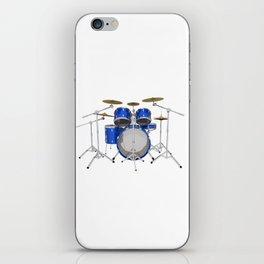 Blue Drum Kit iPhone Skin