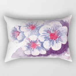 Watercolor cherry blossoms Rectangular Pillow