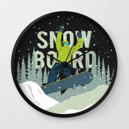 Snowboard Wall Clock