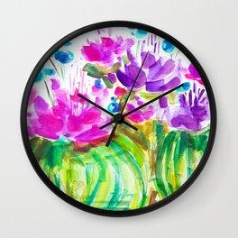 Flowerista Cactus Wall Clock