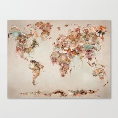 world map deluxe Canvas Print