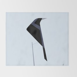 Tordo / Austral blackbird Throw Blanket